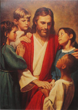 Picture of Christ And Children From Around The World