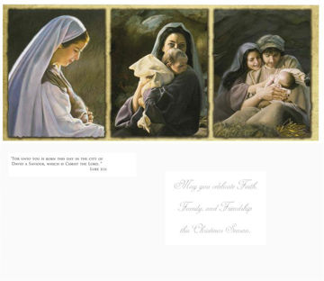 Picture of Triptych Christmas Cards 9.25 X 4