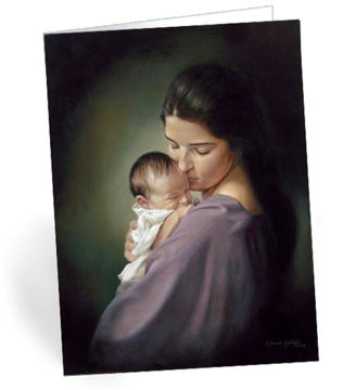 Picture of Swaddling Christmas Card  5 X 7