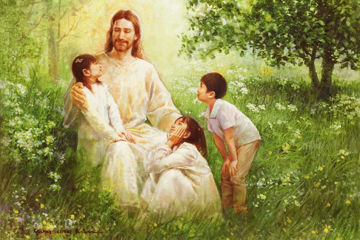 Picture of Christ with Asian Children