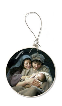 Picture of Silent Night Glass Christmas Ornament